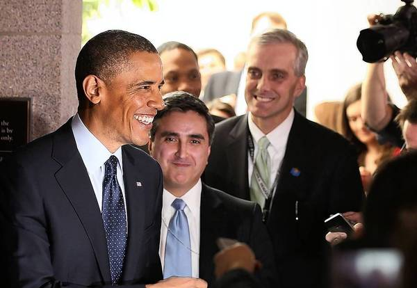 President Obama talks to the news media after a meeting with House Republicans.