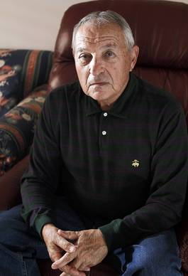 Branko Obradovic sits in his recliner at his home in Boynton Beach, Florida, January 1, 2013. A modular hip implant that was supposed to maximize surgeons' ability to achieve a perfect fit is instead sending hundreds of seniors back to the operating room. Obradovic had the device and has suffered from it as it corroded inside his body.