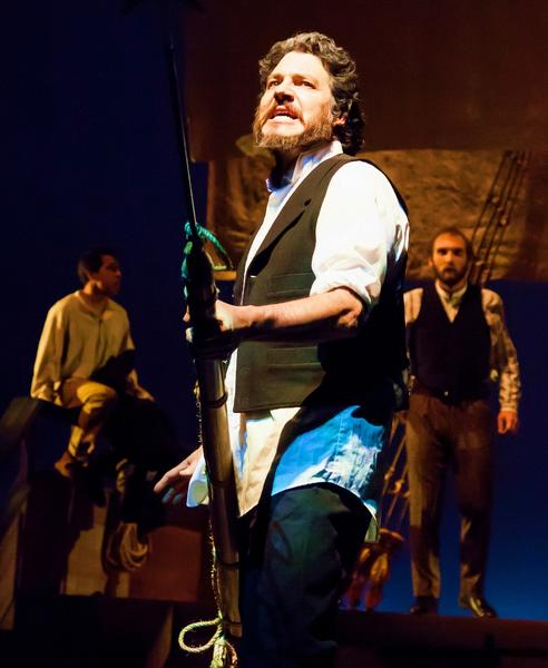 "Lawrence Hemingway stars as Captain Ahab in Golden West College's ""Moby Dick."""