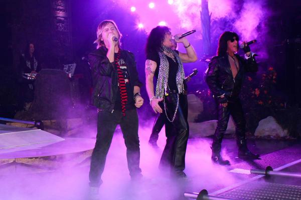 "A Bon Jovi hit is performed during ""Raiding the Rock Vault"" at the LVH Las Vegas Hotel & Casino."