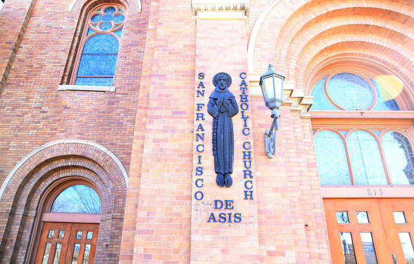 Outside St. Francis of Assisi--San Francisco De Asis--Catholic Church on Chicago's West Side on Wednesday.