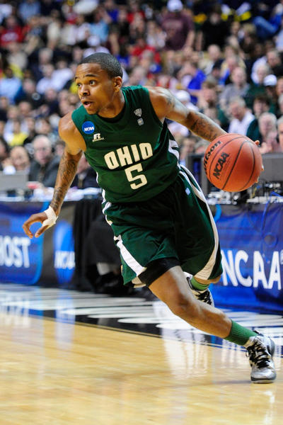 Seton graduate D.J. Cooper against Michigan in the NCAA Tournament on March 16, 2012.