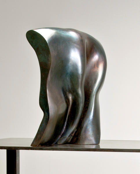 Untitled (2010), a steel sculpture by Karl Stirner, on display in Transformations II at the James A. Michener Art Museum, through June 16.