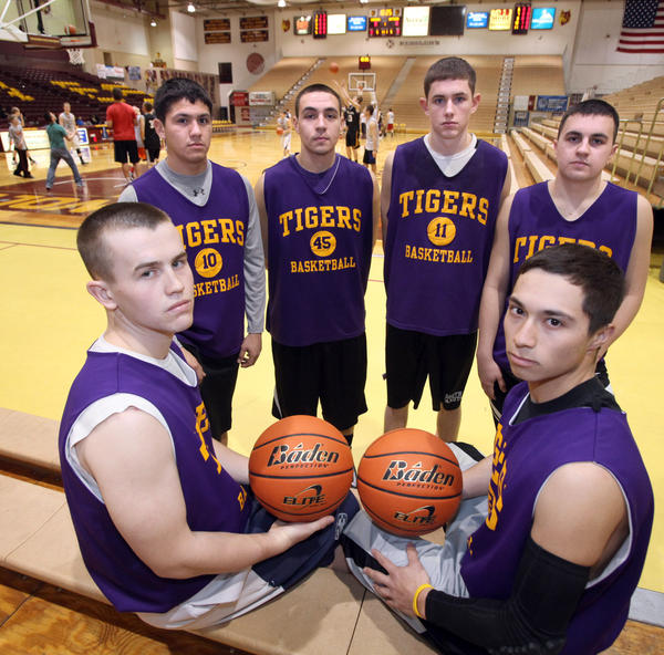 White River is led by its six seniors, from left, Wyatt Krogman, Gilbert Morrison, Matthew Gillen, Joe Cameron, Cory Rogers and Nic Waln.
