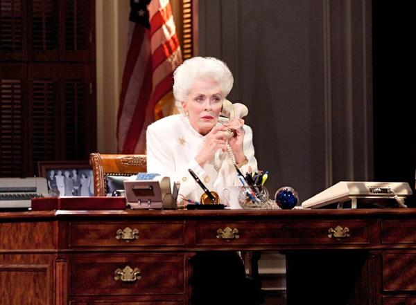 "Holland Taylor as former Texas Gov. Ann Richards during a performance of ""Ann"" at the Vivian Beaumont Theatre in New York."