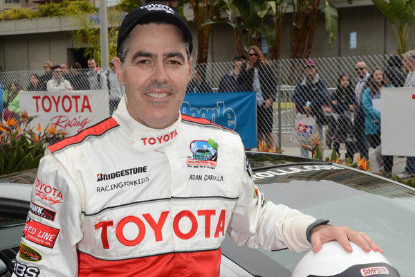 Adam Carolla before last year's Toyota pro/celebrity race in Long Beach.