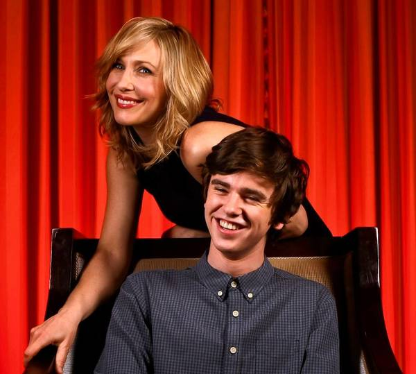 "Freddie Highmore and Vera Farmiga star in the new A&E series, ""Bates Motel."""