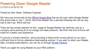 Google Reader to shut down July 1; users petition against move