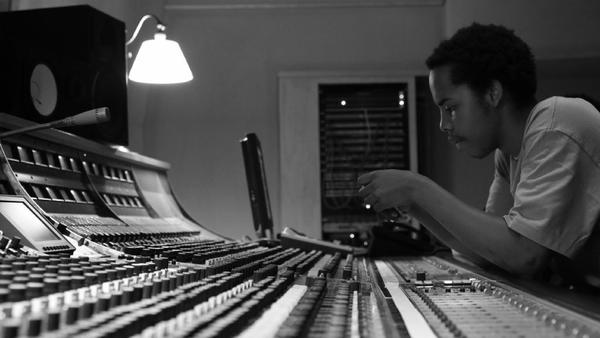 Earl Sweatshirt in the recording studio. The young rapper made his festival debut at South by Southwest in Austin on Wednesday.