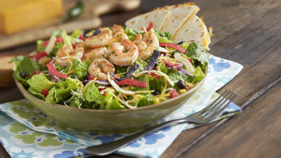 Grilled shrimp on Pollo Tropical menu for Lent
