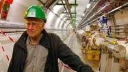 physicist Peter Higgs, at the Large Hadron Collider
