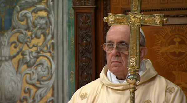 Inside the Sistine Chapel, Pope Francis celebrates his inaugural Mass as head of the Roman Catholic Church.