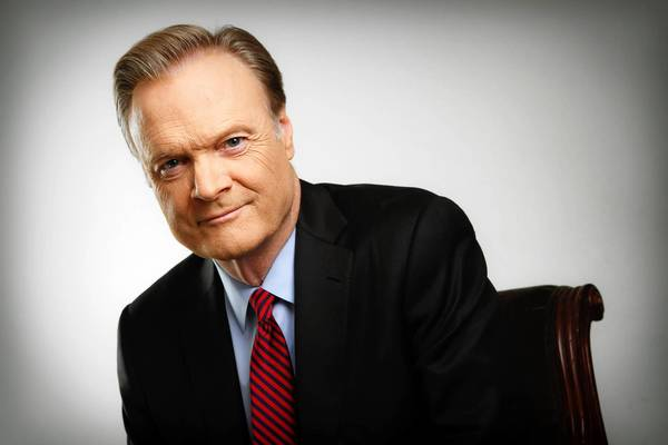 Lawrence O'Donnell at the Burbank Studios.