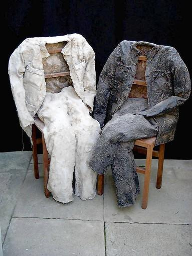 "Connie DK Lane's ""Day and Night Suit"" is at the Art Cube Gallery through March 30."