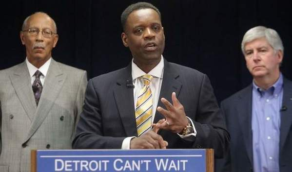 Washington, D.C. lawyer Kevyn Orr, 54, addresses the media at the Cadillac Center in Detroit on Thursday March 14, 2013 after being named as a candidate by Governor Rick Snyder as the emergency financial manager for the city of Detroit.