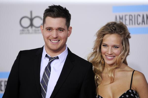 Singer Michael Buble and his wife, Argentine TV actress Luisana Lopilato, are expecting a baby boy.