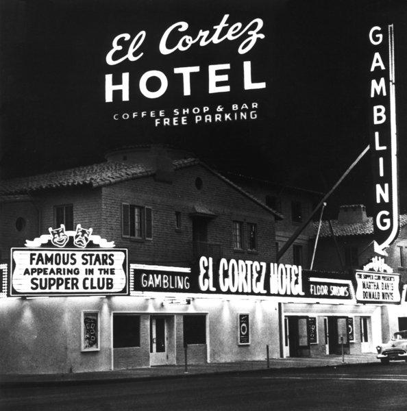 El Cortez, shown here in 1956, belonged to the notorious Bugsy Siegel.