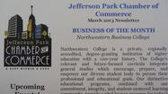 [Rosemont, IL] – Northwestern College is proud to announce that the Jefferson Park Chamber of Commerce selected it as its March Business of the Month! Founded in Chicago in 1902, Northwestern College has continuously maintained a campus in Chicago for all of its 110 years, although it wasn't until 1984 that it opened its Jefferson Park location.  For the past 29 years it has been a fixture on Milwaukee Avenue at Lawrence, a career college for local residents.  The Jefferson Park Chamber of Commerce named Northwestern College its business of the month and featured a short story about the college on the front page of its March newsletter, http://0351964.netsolhost.com/newsletters/Mar2013.pdf