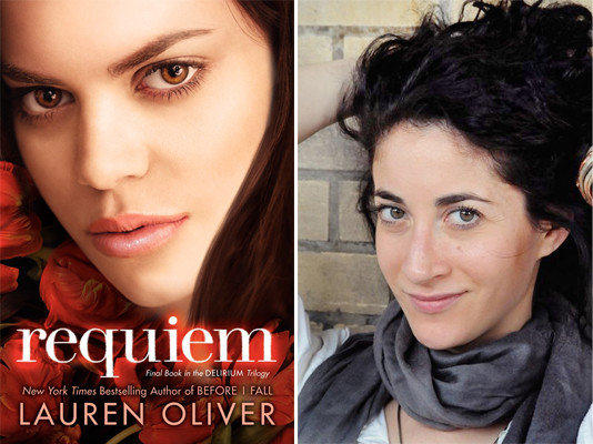 The cover of 'Requiem' and author Lauren Oliver.