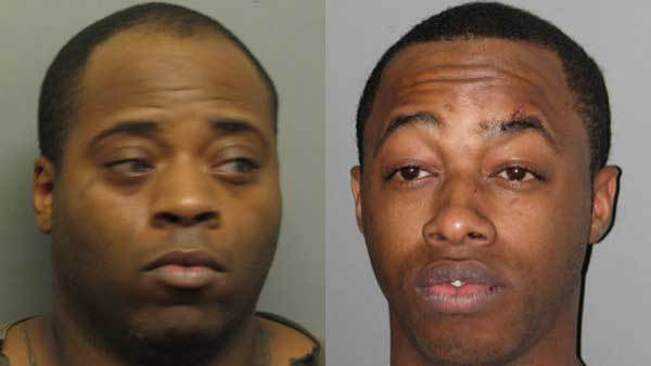 Booking photos of Dominique Wilson, left, Devaul Killingsworth