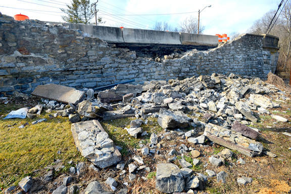 The old bridge on Frederick Street in Funkstown was damaged by a motorist Feb. 24. Bridge repairs, which are expected to be finished soon, were expected to cost approximately $70,000.