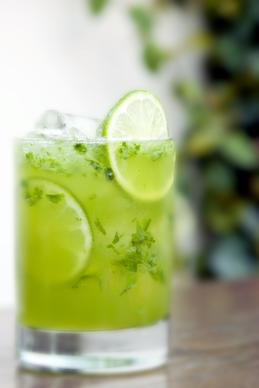 Tavern's Tavern on the Green is made with rum, lime, muddled basil, cilantro and jalapeno. $14.