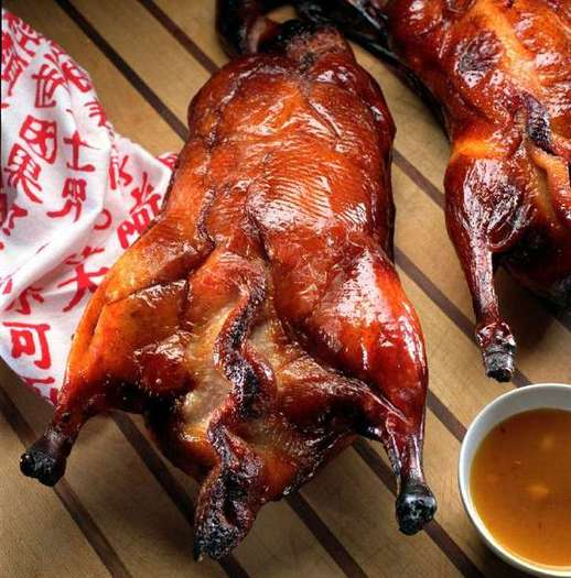 Chinese roast duck.