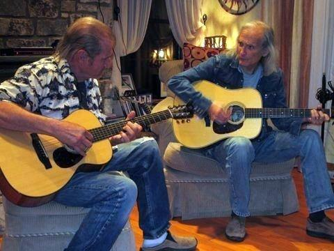 Butch Hancock and Jimmie Dale Gilmore in Austin, Texas.