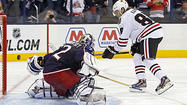 COLUMBUS, Ohio — End to end they raced during the five-minute overtime Thursday night, Sergei Bobrovsky stopping everything the Blackhawks could throw at him and Corey Crawford denying the Blue Jackets' every opportunity.