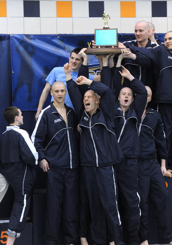 The Salisbury swim team wins the 2A boys PIAA Swimming and Diving Championships at Bucknell University on Thursday.