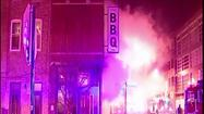 Video: Firefighter injured in fire at Bucktown BBQ restaurant