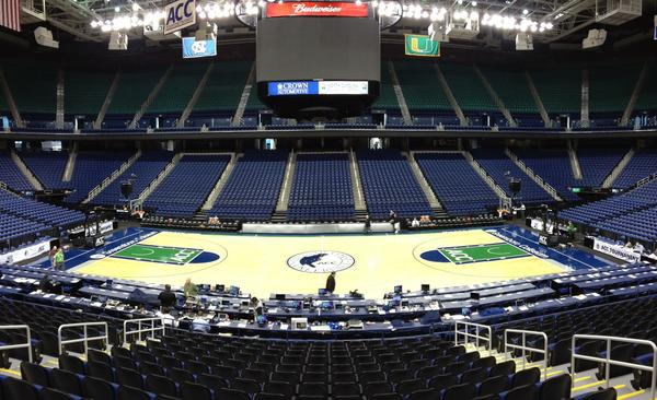 Greensboro Coliseum will again play host to the ACC men's and women's basketball tournaments.