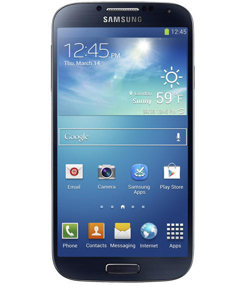 The Samsung Galaxy S 4 features a 5-inch screen and high resolution.