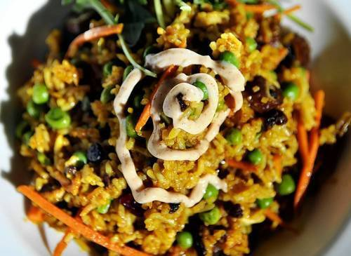 Included in the buffet at Pond House at Elizabeth Park will be Vegetarian Indian Rice.