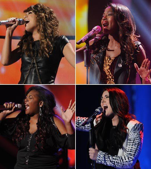 'American Idol' Season 12 best and worst moments: These four women -- (clockwise from top, left) Angie Miller, Amber Holcomb, Kree Harrison and Candice Glover -- are extraordinarily talented. Is this the strongest group of female finalists the show has ever had? Very possibly. We cant think of another season that had four girls this strong.   Will they finish 1-2-3-4? They should. But we arent holding our breath.