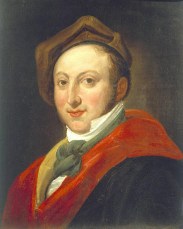 Portrait of Gioachino Rossini (Pesaro, 1792-Paris, 1792), Italian composer.