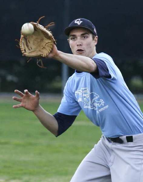 Crescenta Valley's Ted Boeke practices at Stengel Field in Glendale on Wednesday, February 20, 2013. Boeke's team and Glendale High School will compete Saturday through Wednesday at fields throughout Southern California during the Babe Herman Tournament.