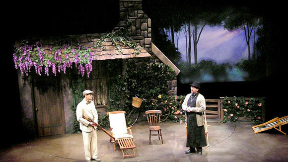 "The set for the play ""Mrs Warren's Profession,"" presented by a regional theater in Columbia, Md., is one of the many scenic designs created by theatrical artist Kathleen Runey."