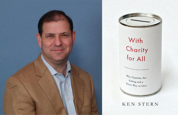 Author Ken Stern and the cover of his book, 'With Charity for All'.