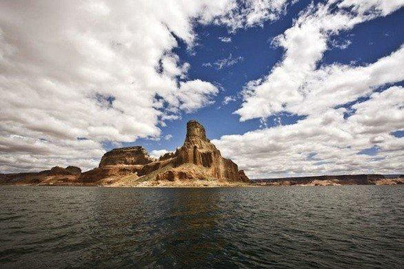 Boats access areas of Lake Powell in Glen Canyon National Recreation Area that are unreachable on foot or by car.