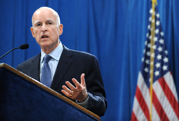 Gov. Jerry Brown speaks to reporters the day after the November 2012 election, when voters approved his tax-hike plan.