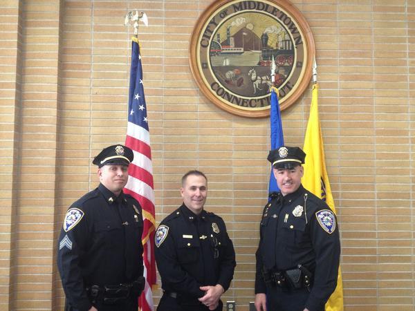 From left: Sgt. Daniel Smith, Chief William McKenna and Lt. Richard Davis