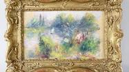 A federal court in Virginia was asked Friday to determine the proper ownership of a miniature landscape painted by Pierre-Auguste Renoir and purchased for $7 in a box of odds and ends in a rural flea market.