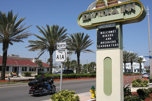 Images from Main Street in Daytona Beach during Bike Week 2013.