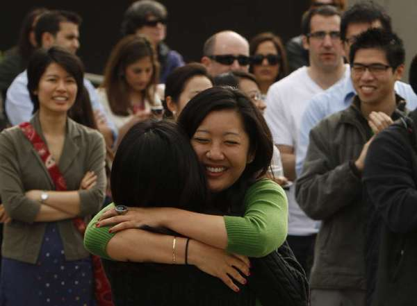 UC Irvine medical student Christine Louie celebrates after learning got into a UCI/CHOC residency program on Match Day in 2011. Once again, more medical students chose residencies related to internal medicine and primary care in 2013.