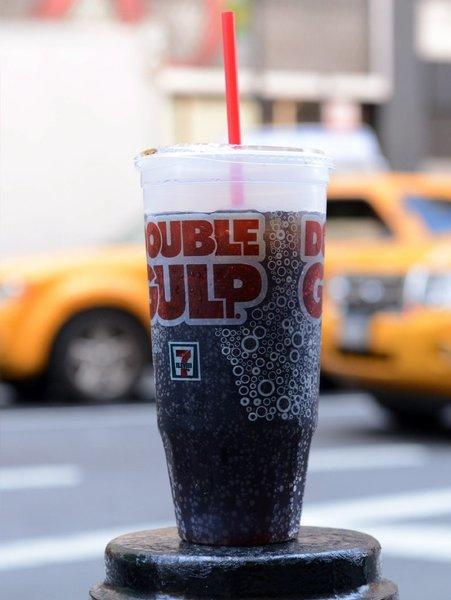A giant soda from 7-Eleven would be allowed under the New York City ban that was halted for now by a judge, but one sold by a fast-food restaurant would be banned.
