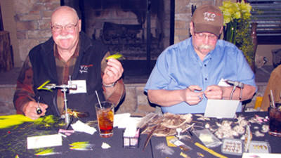 Bob Closuer, left, and Bob Clouser Jr. will be among the nationally known fly tyers and fly anglers appearing at the Third Annual Fly Tyers Roundtable at Seven Springs Mountain Resort.