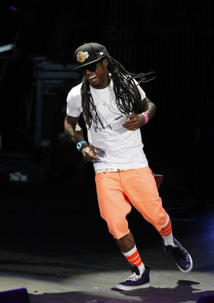 Lil Wayne performs in concert at the Verizon Wireless Amphitheater,