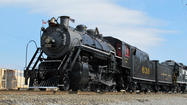A vintage locomotive is on the rails in Roanoke, preparing for a weekend of steam excursions.