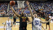 Maryland upsets Duke, advances to Saturday's ACC semifinals
